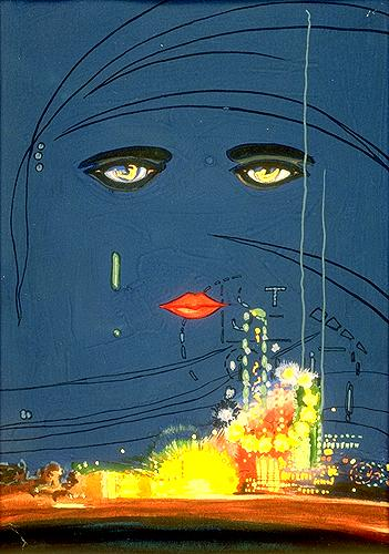 Francis Cugat's final painting for the book jacket of the first edition of <i>The Great Gatsby</i>