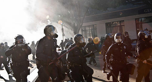 "Oakland Police Department responds to ""Occupy"" protesters."