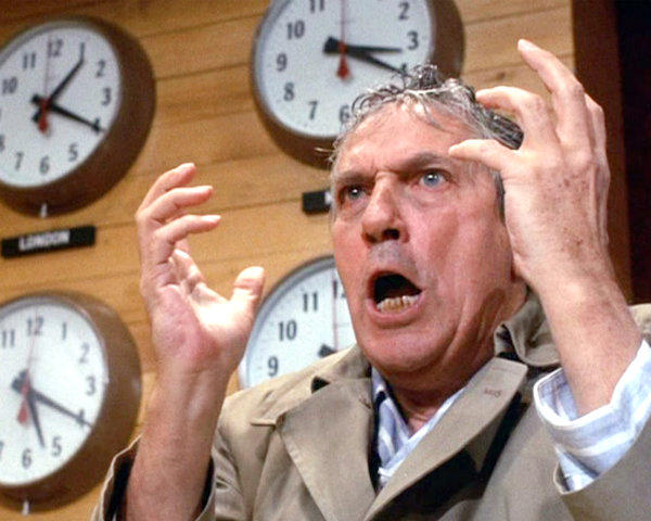 Peter Finch as Howard Beale in <i>Network</i>