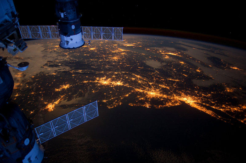 The U.S. Atlantic Coast as viewed from the International Space Station