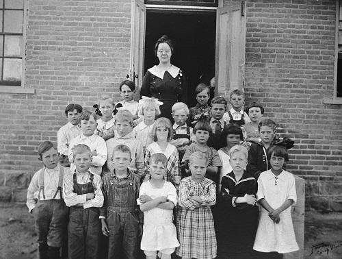 Schoolchildren with Teacher, Vernal, Utah