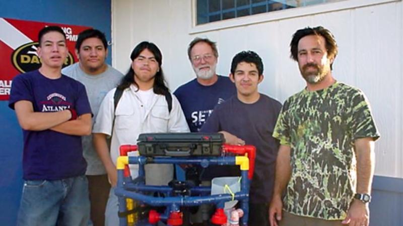 Members of Carl Hayden High School's 2004 robotics team.