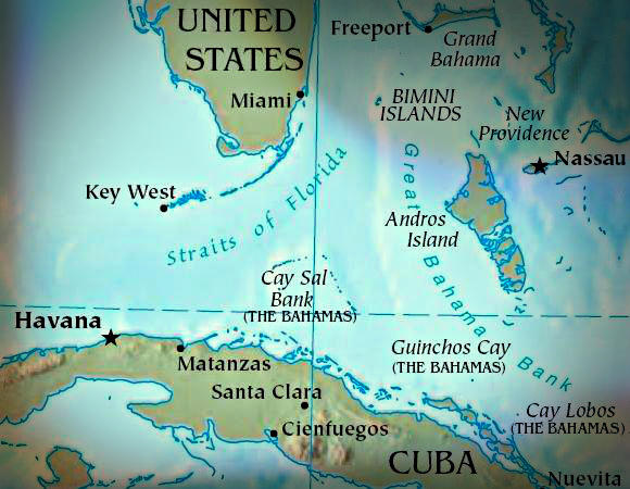 The US Embargo Against Cuba RadioWest - Us and cuba map