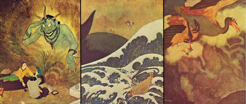 The travels and travails of Sinbad the Sailor as illustrated by Edward Dulac