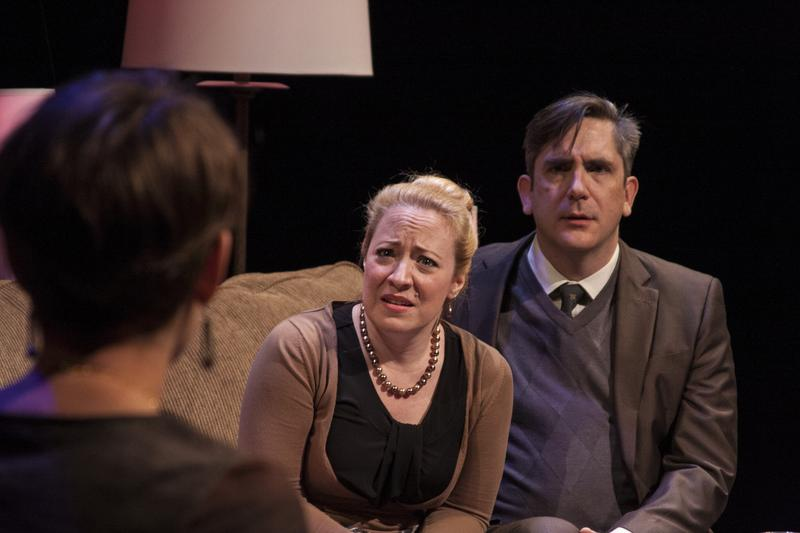 "Actors April Fossen and Mark Fossen in Plan B Theatre Company's ""Pilot Program"""