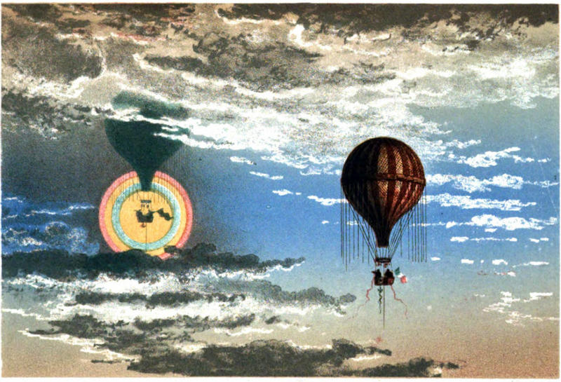 The meteorological ballooning of the 1860s, from James Glaisher et al, Travels in the Air, 1871