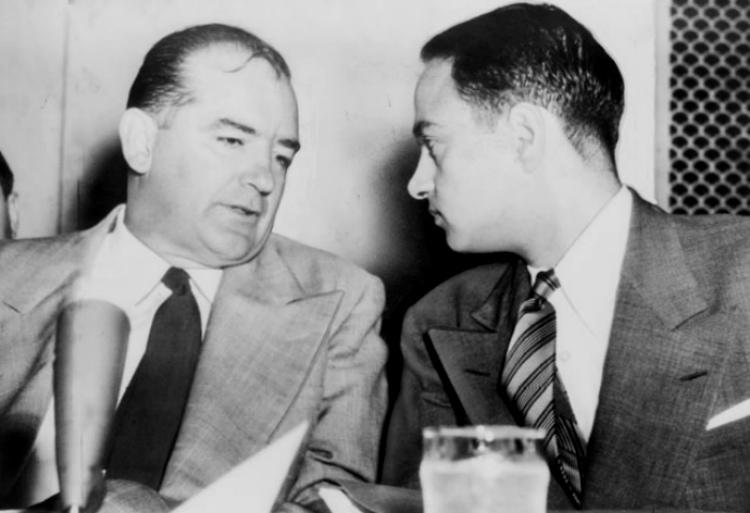 Senator Joseph McCarthy (left) and Roy Cohn orchestrated the so-called Lavender Scare in America in the 1950s.