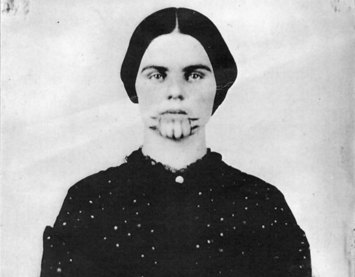 Olive Oatman on New Years Eve, 1856