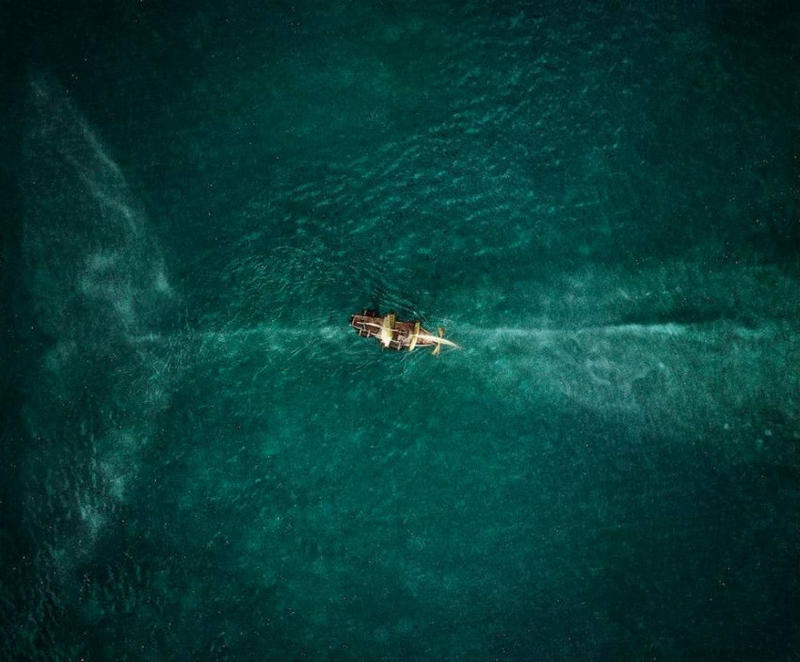 Detail from a promotional poster for the forthcoming major motion picture <i>In the Heart of the Sea</i>.