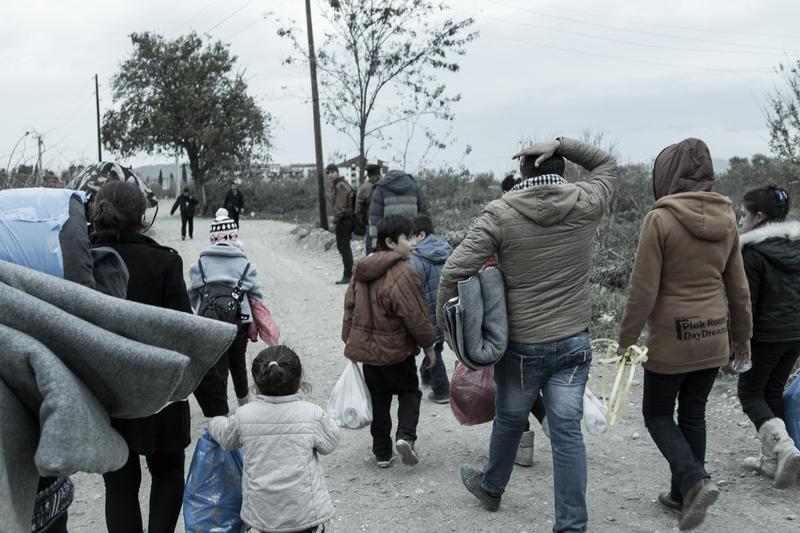 Walking from the Greek border to Gevgelija, Macedonia.