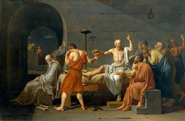 The Death of Socrates, Jacques-Louis David, Public Domain