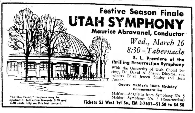 March 12, 1960 Advertisement in Salt Lake Tribune