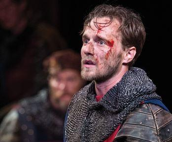 Sam Ashdown as King Henry V in the Utah Shakespeare Festival's 2016 production of Henry V.