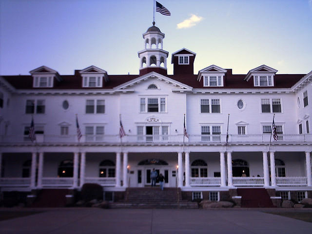 "The Stanley Hotel in Estes Park, Colorado is said to be haunted, and inspired Stephen King's novel ""The Shining."" William Andrus, CC via Flickr, http://bit.ly/2e8rrFw"