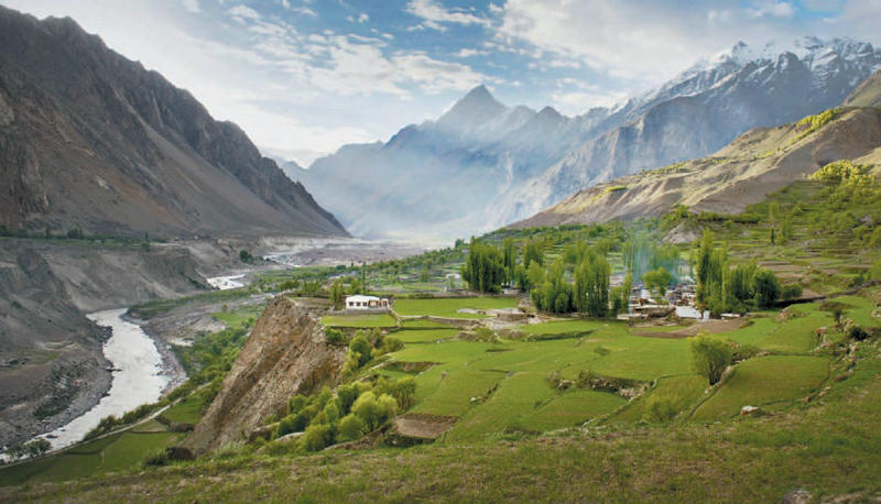 "Korphe, Pakistan, a village central to Greg Mortenson's account in ""Three Cups of Tea"""