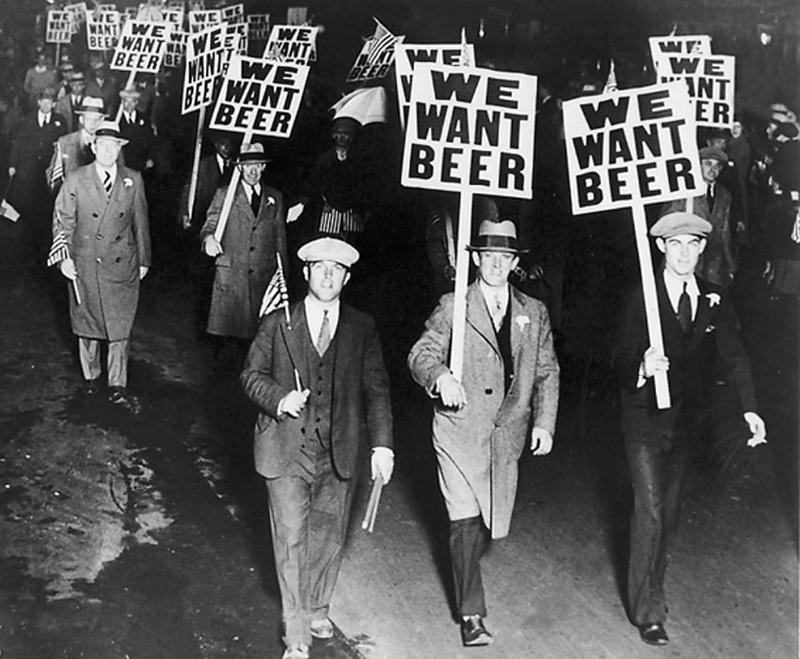Liberal protestors march in the battle over prohibition