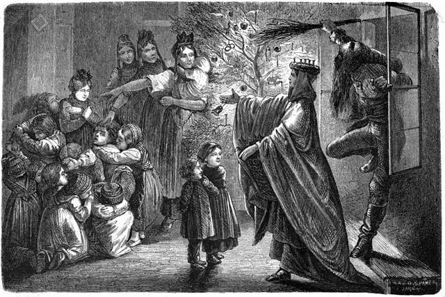 Christ Child and Hans Trapp in Alsace (1863 illustration)