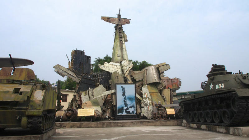 A sculpture at the Vietnam Military History Museum in Hanoi.