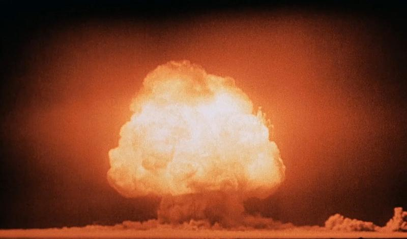 The 1945 Trinity explosion, the world's first nuclear detonation.