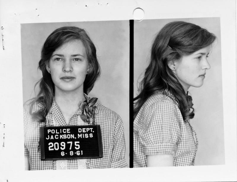 Joan Trumpauer Mulholland after her arrest for taking part in the original Freedom Ride
