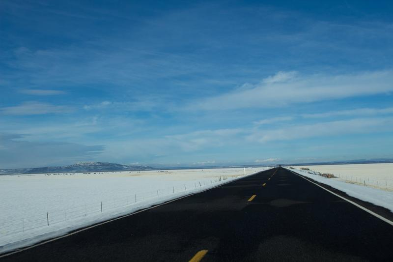 On the road from Burns, Oregon, to the Malhuer National Wildlife Refuge in the winter of 2016.