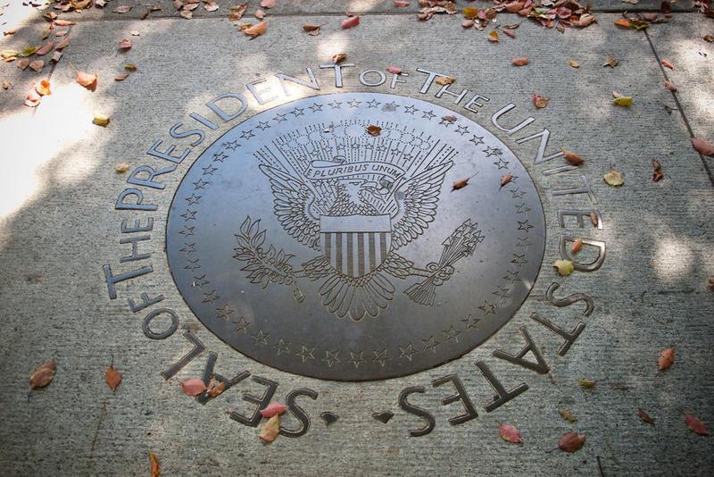 U.S. Presidential seal.