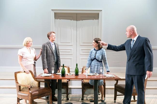 L-R: Kate Middleton (Mona Juul), Jeff Talbott (Terje Rød-Larsen), Susanna Florence (Marianne Heiberg) and Ian Bedford (Johan Jorgen Holst).