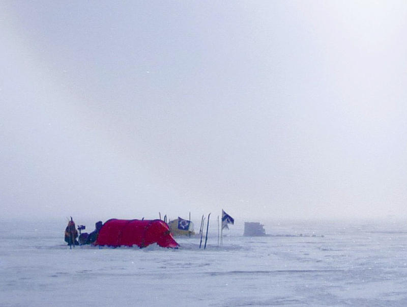 Tent in the middle of the Antartic ice