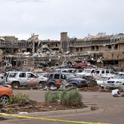 The Moore Medical Center immediately after the May 2013 tornados.