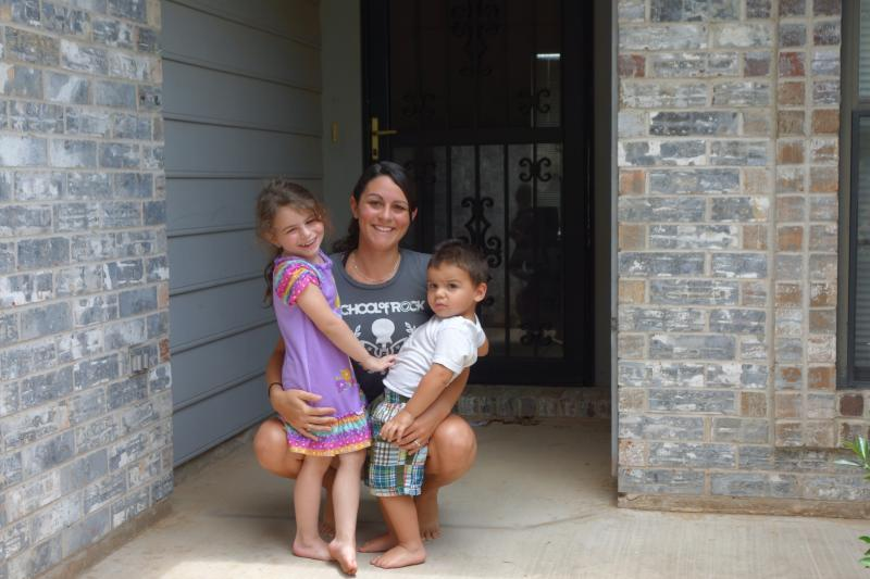 Susan Montesano and her two children, Aspen, 4 and Braden, 2 escaped from her and her fiancé's rented house in Moore before it was leveled by the May 20 tornado. They received a $15,000 disaster-aid check within days.