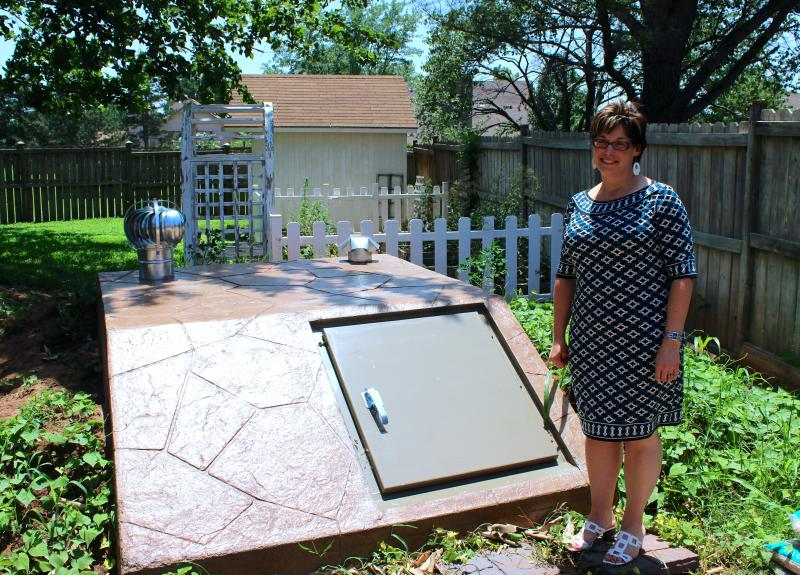 Stillwater resident Hollie Schreiber received a $2,000 storm shelter rebate through the city's Hazard Mitigation Grant Program that FEMA funded following the 2013 Oklahoma tornadoes.
