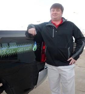 Hebert's Town and Country dealer manager Beau Hebert is now stocking Dodge Ram trucks with a factory-made CNG fueling option.