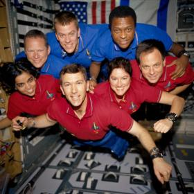 Seven astronauts were aboard STS-107, the Columbia Mission Crew.