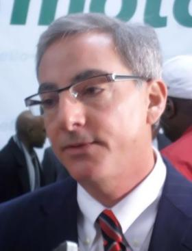 Paul Elio, founder of Elio Motors, talks with reporters at a January 2013 press announcement at the Shreveport General Motors plant.