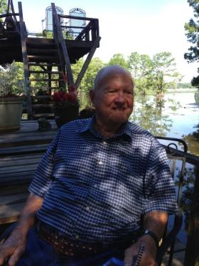 """Kenneth Cochran lives on Caddo Lake near Mooringsport, La., and has compiled his recollections on World War II in """"A Time to Remember."""""""