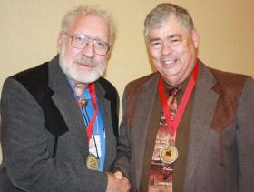 Texas State Historian Bill O'Neal of Carthage (right) will present a history conference with guest speaker Chuck Parsons on Saturday about East Texas gunfights and feuds.