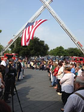 Bossier Parish came together to remember the 12th anniversary of 9/11 at the Bossier City Municipal Complex's Liberty Garden.