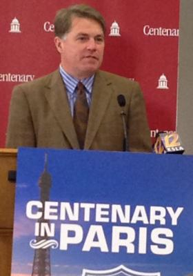 Centenary College president David Rowe announced the school's new Centenary in Paris initiative Thursday.