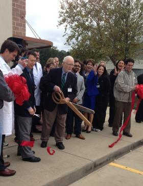 Dr. Peter Boggs, a longtime Shreveport allergist, marks the opening of the BreatheAmerica location in Shreveport.