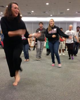 Shreveport modern dancer Renee Smith Cheveallier leads the Dancing with Parkinson's class at Centenary College.