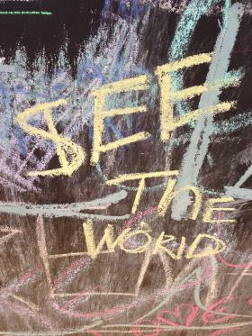 The Bucket List Chalkboard in Shreveport captures the dreams of people who step up to the art installation and contribute their beliefs.