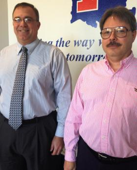 Louisiana Tech's Tim Bisping (left) and Jim Cochran are organizing a business analytics conference in Shreveport.