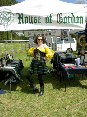 Marcia Gordon McLaurin of Canton, Miss., celebrates her family heritage at the 2013 Tartan Festival.