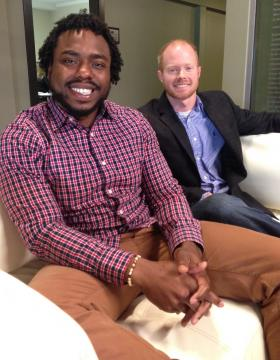 Business partners Lydell Smith (left) and Jonathan Burks have submitted their application to be part of downtown Shreveport's Pop UP Project.