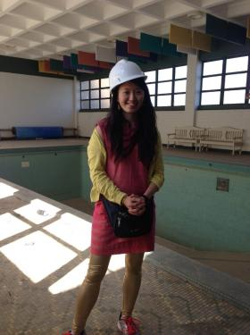 Marlene Yu Museum director Stephanie Lusk is hoping to convert the building's pool into a whitewater training center, as part of a future capital campaign. The pool was shut down a decade ago.