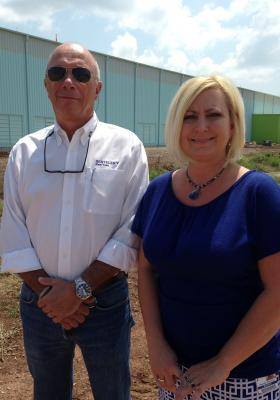 Benteler Steel/Tube project director Patrick Guillaume and human resources manager Rhonda Simmons discuss the future of Benteler's first U.S. steel/tube plant that is slated to be in operation by Aug. 2015.