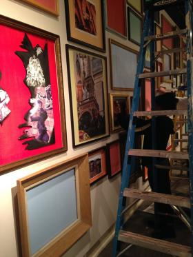 """Centenary students hung their exhibition """"Centenary in Paris,"""" covering every inch of the Meadows Museum with inspiration from their 10 days in the City of Light."""