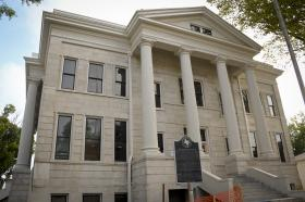 The Franklin County Courthouse in Mt. Vernon, Texas, is being carefully restored to its 1912 grandeur.