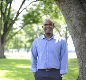 The LSU AgCenter's Naveen Adusumilli holds a doctorate in agricultural economics, and is working with Louisiana farmers to implement smart irrigation practices.