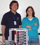 Math instructor Brad Burkman and physics instructor Kerrie Tainter assembled a portable supercomputer.